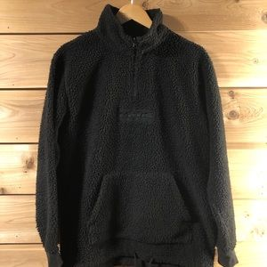 Vans High Pile Black Quarter-zip Pullover